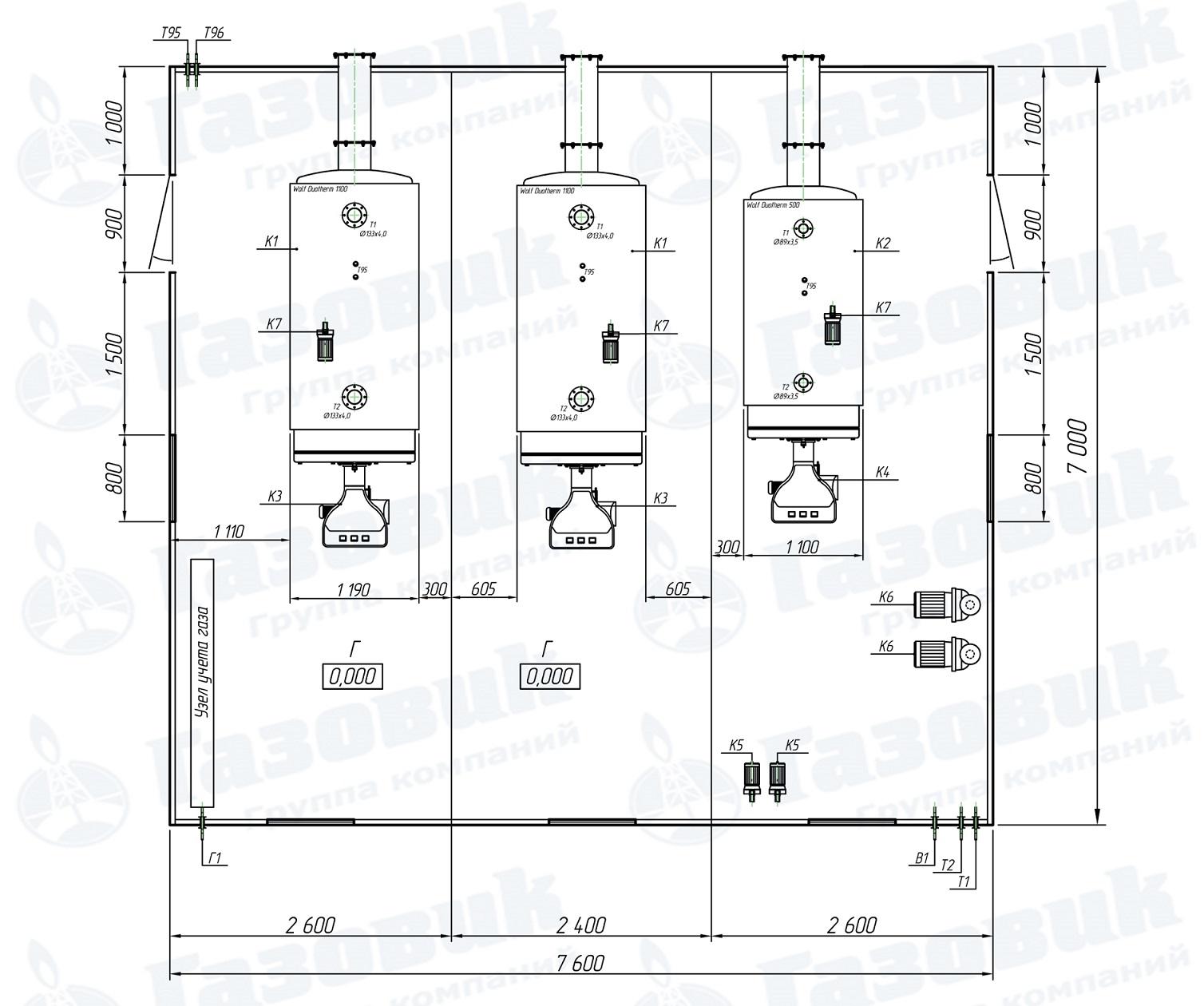 Транспортабельная котельная установка мощностью 2500 кВт