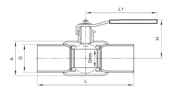 Шаровой кран 11с67п2ЦП полный и неполный проход цельносварной облегченный