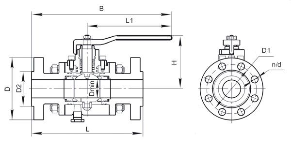 Шаровой кран 11с67пКФ, 11с67пКП полный проход высокого давления
