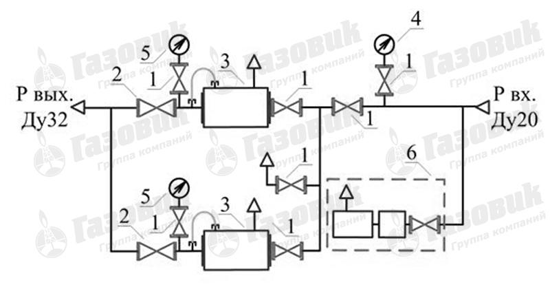 схема грпш с двумя линией редуцирования